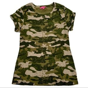 Glo Camo Print T Shirt (Juniors)